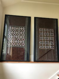 Large framed textiles imported directly from Kenya (5ft x 3ft each)