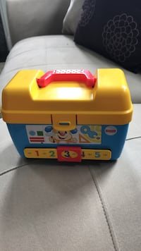 yellow and blue plastic learning tool case