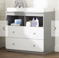Wes Changing Table Grey/White Beverly Hills, 34465