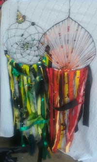 green-and-yellow and red-and-yellow dream catchers Rock Spring