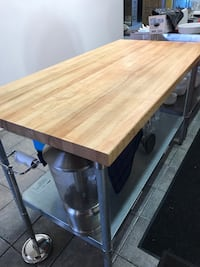 """60"""" Stainless Prep Table with Butcher Block Too Los Angeles, 90291"""