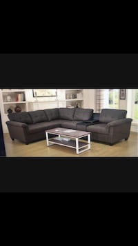 ****Fabric Sectional Sofa With Storage Console Sale**** Mississauga