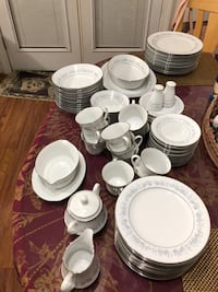white ceramic plates and cups Sterling, 20164