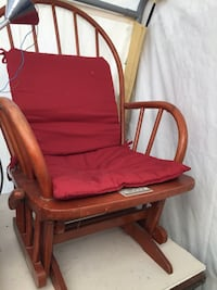 brown wooden framed red padded armchair Innisfil, L9S 2K7