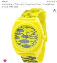 Nixon Mens or Women's Citron Wildside Watch - New w/Tags in Box Lewisville, 75077