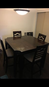 Rectangular brown wooden table with  four chairs dining set Las Vegas, 89147