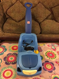blue and white canister vacuum cleaner Bakersfield, 93307