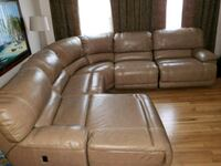 Leather 5 piece Sectional Recliner  Fort Washington, 20744