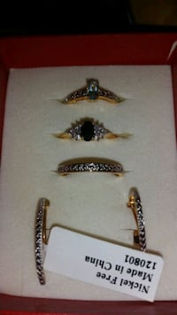 Clip earrings and 3sz 7 rings Galena, 65656