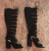 Black Lace-Up Boots Ontario