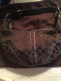 brown monogrammed Coach leather tote bag Corpus Christi, 78412