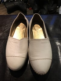 Prada Milano white leather espadrilles sz 37 Burnaby, V5G 3X4