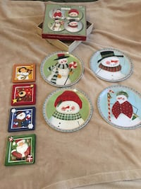 Christmas plates and coasters for sale Edmonton, T5Z 0K9