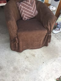 Red (sun faded) Chair with Cover and Pillow! Calgary, T2K 4N2