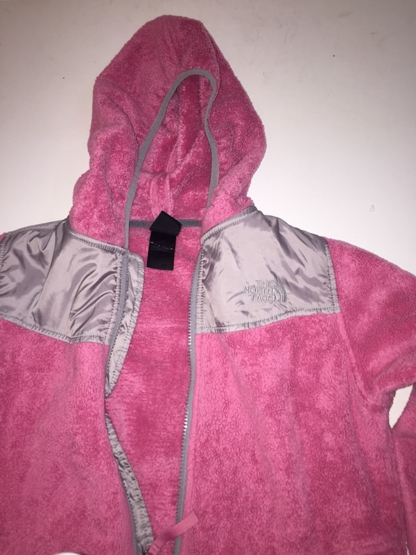 Pink fleece Northface jacket 1