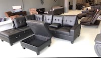 Sectionals with storage ottoman $899 $39 down no credit check financing  Roslyn Heights, 11577