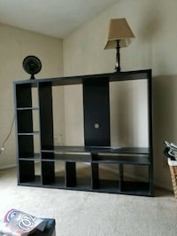 black wooden TV stand with mount Arlington, 22206