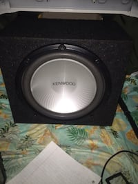black and gray Kenwood subwoofer Suitland, 20746