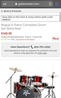 Rogue 5 piece drum set