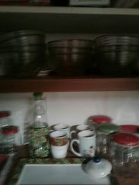 Glass bowls /Christmas dishes and accessories