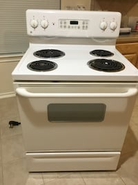 White and black 4-coil electric range oven Humble, 77346
