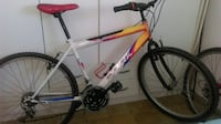 blanco y amarillo Next mountain bike