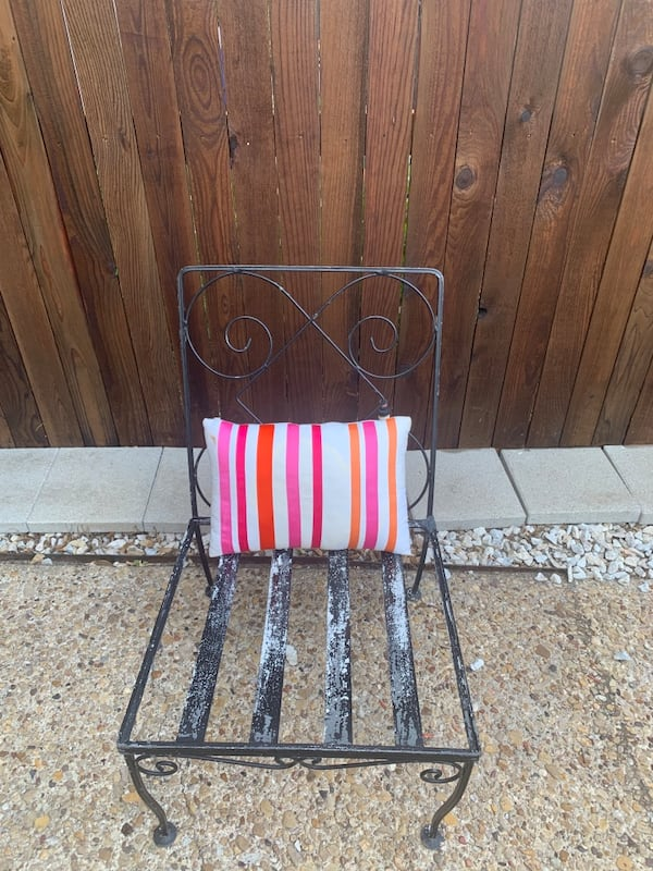 Cute Wrought Iron Patio Chair -Outdoor Boho furniture 6e71dc02-af33-4090-ace6-263b5af2b4a2
