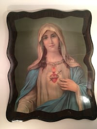 Mother Mary portrait painting