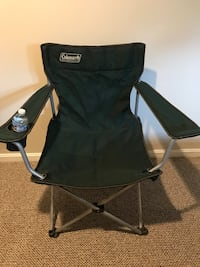Coleman outdoor folding sports chair in dark green canvas. $13 for one or get discount when you buy more than one   Potomac, 20854