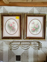 two brown wooden framed painting of flowers El Paso, 79930