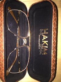 Brand new gold/turtle shell framed Hakim aviator-style sunglasses with case