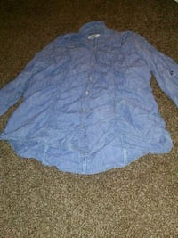 blue and white button-up long-sleeved shirt Jacksonville, 32206
