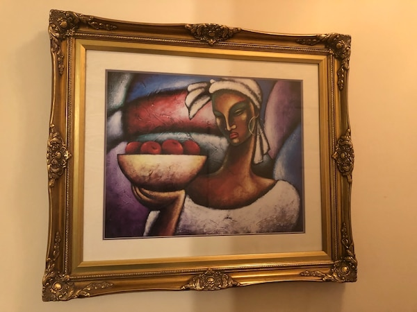 """Gold Framed Picture 29""""x25"""""""