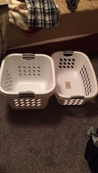 two white plastic clothes containers Cedar Falls, 50613