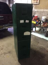 Green metal 5-tier file cabinet Morristown, 07960