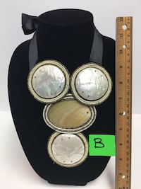 Shell and bead handmade statement bib necklace Murfreesboro, 37130