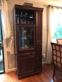 Solid Wood Cabinet with 3/4 Thick Glass Shelves Arlington, 22204