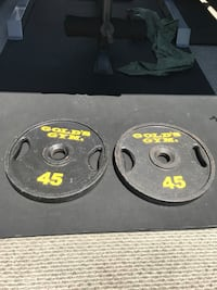 45 lb Gold's Gym Weight plates barbell Garden Grove, 92844