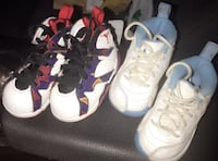 toddler's nothing but net Air Jordan 7 and 12 shoes