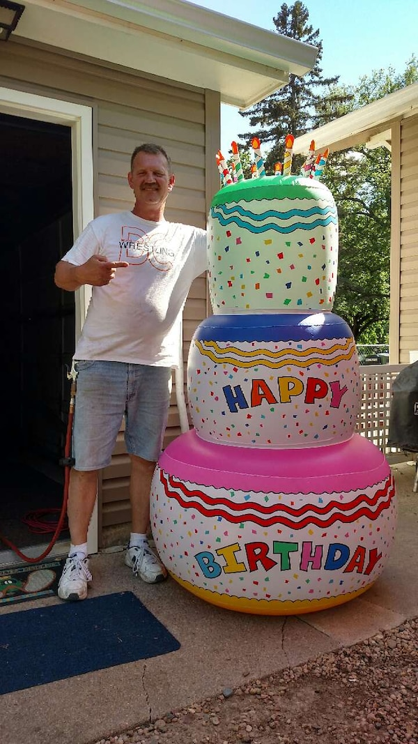 Sensational Used Giant Inflatable Birthday Cake No Holes Great For Sale In Personalised Birthday Cards Bromeletsinfo