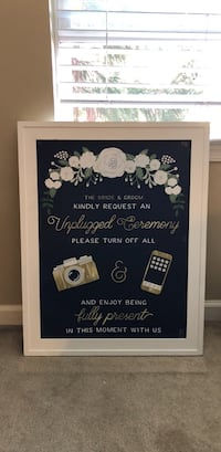 Unplugged ceremony sign, no glass in frame 21.5 x 27.5 Conshohocken, 19428