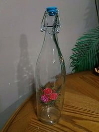 Pretty glass bottle with rubber stopper Youngstown, 44515