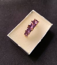 14K YELLOW GOLD PLATED OVER STERLING SILVER RING WITH 3.25CT ALEXANDRITE GEMSTONES SZ 9 Sparks, 89441