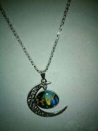 silver and blue pendant necklace Inverness