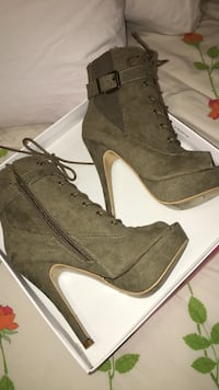 Olive green booties null
