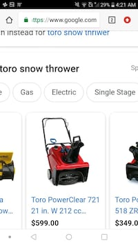 toro snow thrower Sioux Falls, 57105