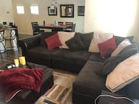 Brown sectional w/ottoman Henderson, 89074