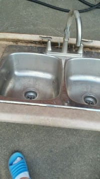 two stainless steel sink with faucet Niagara Falls