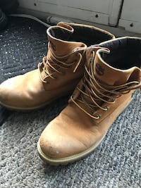 Pair of brown leather work boots Halifax, B3S 1K4