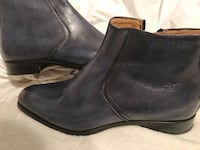 black leather side-zip booties Coquitlam, V3K 5B8